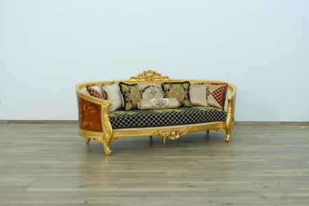 European Furniture Luxor 68585S Stationary Sofa Gold, Main Image