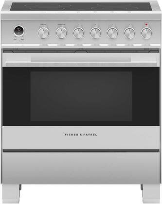 Fisher Paykel Contemporary OR30SDE6X1 Freestanding Electric Range Stainless Steel, Front view
