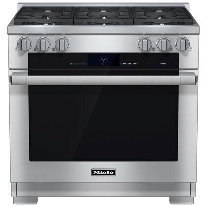 Miele M Touch HR19342DFG Freestanding Dual Fuel Range Stainless Steel, 1