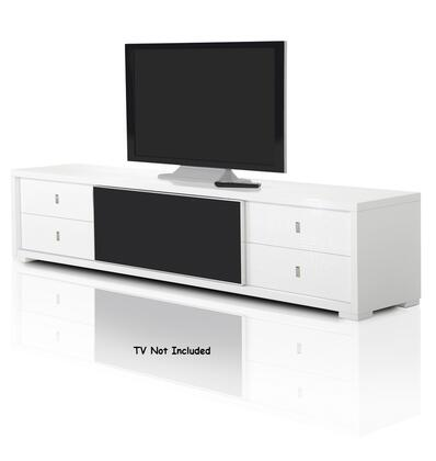VIG Furniture A & X Leopold VGUNAA519227WHT 52 in. and Up TV Stand White, TV Stand