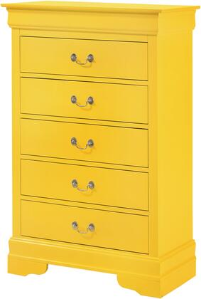 LouisPhillipe Collection G02102-CH 31″ Chest with 5 Drawers  Molding Details  Bracket Feet  Solid Wood and Wood Veneer Materials in