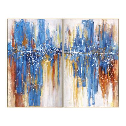 Signature Art Series 3230010 Pulse I 60″ x 48″ Acrylic Painting in Multi