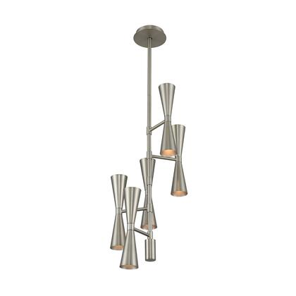 Milo 310472SN 10-Light Foyer Chandelier in Satin