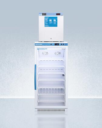 AccuCold  ARG8PVFS24LSTACKMED2 Top Freezer Refrigerator White, ARG8PVFS24LSTACKMED2 Refrigerator and Freezer Combination
