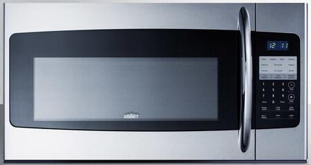 Summit  OTRSS301 Over The Range Microwave Stainless Steel, OTRSS301 Front View