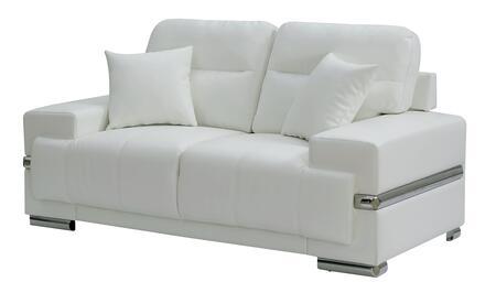 Furniture of America Zibak CM6411WHLV Loveseat White, Main Image