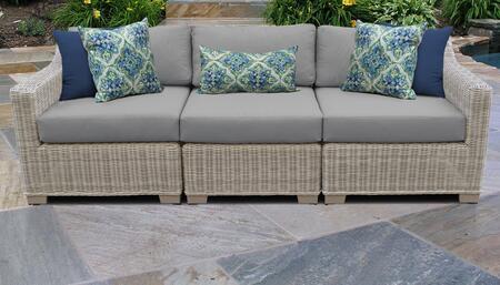 TK Classics COAST03CGREY Outdoor Patio Sofa, COAST 03c GREY
