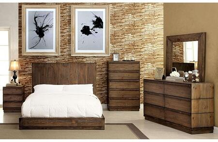 Furniture of America Amarante CM7624QBDMCN Bedroom Set Brown, Main Image
