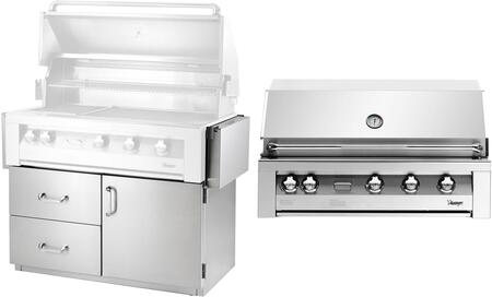 Vintage 1217242 Liquid Propane Grill Stainless Steel, main view