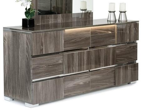 VIG Furniture Modrest Picasso Italian VGACPICASSODSRGRY Dresser Gray, Dresser