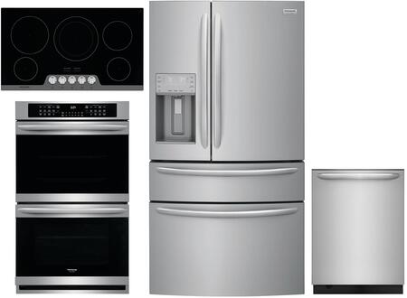 Frigidaire  1010075 Kitchen Appliance Package Stainless Steel, main image
