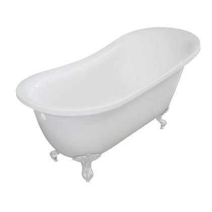 Valley Acrylic Affordable Luxury IMPERIAL155CFWHTWHT Bath Tub White, Main Image