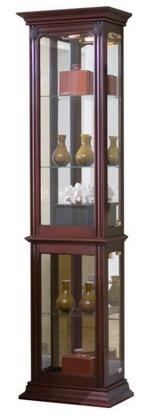 21213 Curio with Right Side Entry  Lighted Interior and Brass Finished Hardware in Gallery III