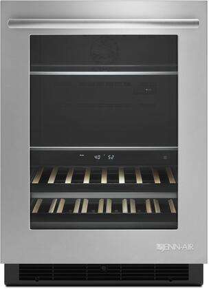 "Jenn-Air JUB24FLERS 24"" Stainless Steel Under Counter Beverage Center"
