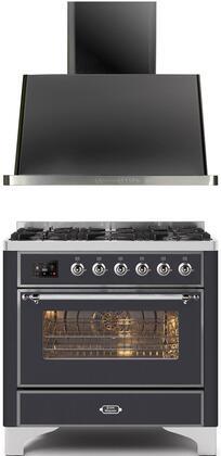 Ilve Majestic II 1271577 Kitchen Appliance Package Graphite, Main image