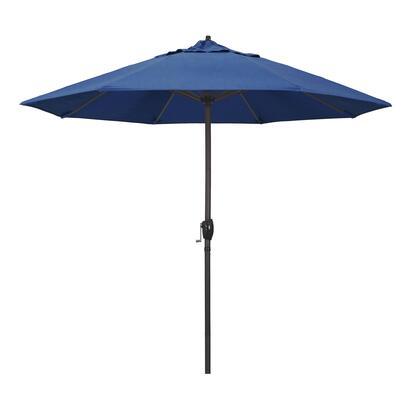 Casa Collection ATA908117-5493 9′ Patio Umbrella With Bronze Aluminum Pole Aluminum Ribs Auto Tilt Crank Lift With Sunbrella 1A Regatta