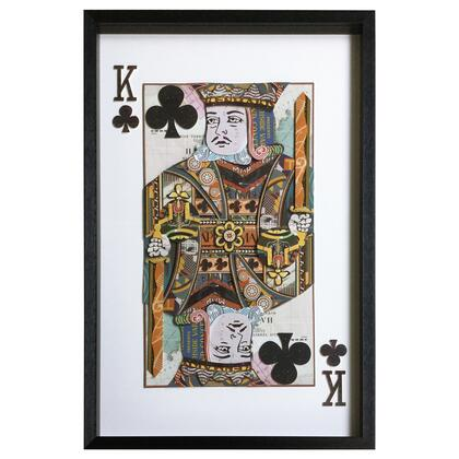 Framed Collages Collection 3120052 King of Clubs 24″ x 36″ Collage in