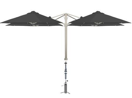 Shadowspec SU6 Series KITP6SQ30QTOGACHAA Outdoor Umbrella Gray, Charcoal