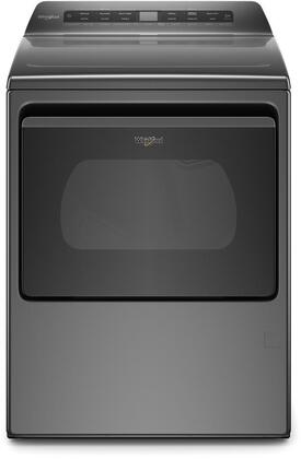Whirlpool WED6120HC 27 Smart Capable Chrome Shadow Electric Dryer with 7.4 cu. ft. Capacity, AccuDry Sensor Drying, Wrinkle Shield Option, EcoBoost Option