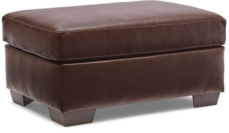 2043-09 SOFT TOUCH CHESTNUT 35″ Ottoman with Leather Upholstery in
