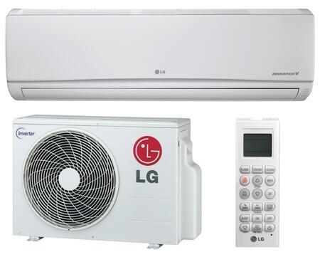 LG  LS090HSV2 Single-Zone Mini Split Air Conditioner White, Main Image
