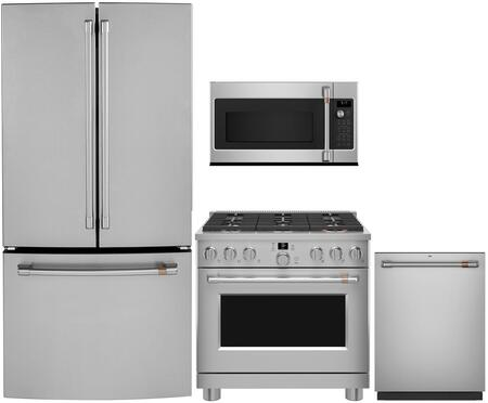 Cafe  1046208 Kitchen Appliance Package Stainless Steel, main image