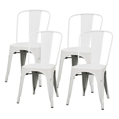 938233-FW Metropolis Metal Side Chair Set of 4  in Frosted