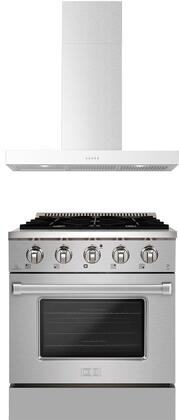 Forte  1458107 Kitchen Appliance Package Stainless Steel, main image