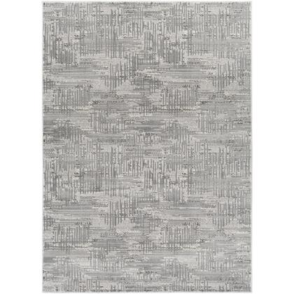 Amadeo ADO-1015 6'7″ x 9'2″ Rectangle Modern Rugs in Light Gray  Cream  Medium Gray  Dark