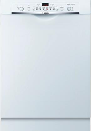 Bosch 100 Series SHE3AR72UC Built-In Dishwasher White, Front View