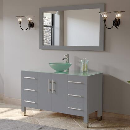 8116B-G Complete 48″ Vanity Set with Polished Chrome