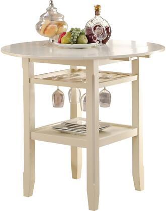 Acme Furniture Tartys 72545 Bar Table White, Counter Height Table