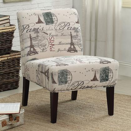 Acme Furniture Reece 96225 Accent Chair White, Accent Chair