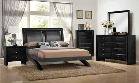 Myco Furniture Emily Arch EM1600QSET Bedroom Set Black, 1
