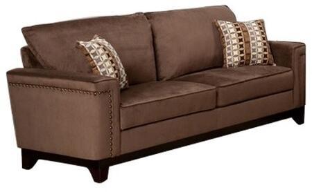 Myco Furniture Opulence OP270SBR Stationary Sofa Brown, 1