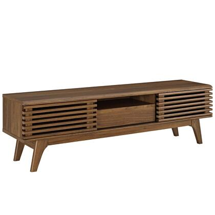 Modway  EEI2541WAL 52 in. and Up TV Stand Brown, EEI2541WAL side