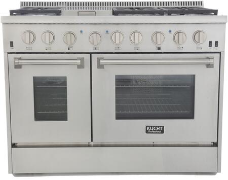 Kucht Professional KRG4804US Freestanding Gas Range Stainless Steel, KRG4804US Front View