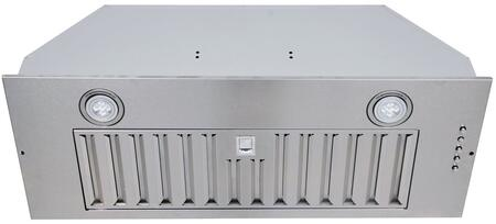 IN-R100SS-30 30″ Insert Range Hood with 600 CFM  Baffle Filters  LED Lighting and Push Button Controls in Stainless