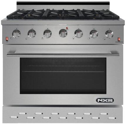 SC3611LP 36″ Stainless Steel Freestanding Liquid Propane Range with 5.5 cu. ft. Capacity  6 Burners  Black Porcelain Drip Pan and Cast Iron