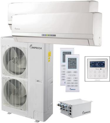ISFW-602424 Flex+ Series Dual-Zone Mini Split System with 52 900 BTU Outdoor Unit  2x 21 400 BTU Wall Mounted Indoor Unit  2x Wireless Remotes and