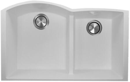 PR6040-UM Plymouth Collection Sink 33″ Undermount Sink with Double Bowls  Sound Absorption  Scratch Resistant and Heat Resistant  in