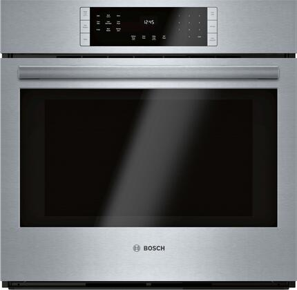 Bosch 800 Series HBL8453UC Single Wall Oven Stainless Steel, Main Image