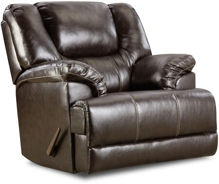 """Bingo 50451BR-16 46"""""""" Swivel Glider Recliner with   Split Back Cushion  Plush Padded Arms and Stitched Detailing in -  Lane Furniture, 50451BR-16 Bingo Brown"""