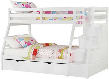 Acme Furniture Jason 37105 Bed White, Angled View