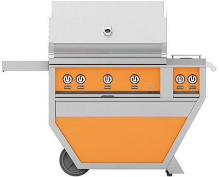 Hestan GSBR36CX2NGOR Natural Gas Grill Orange, Front View