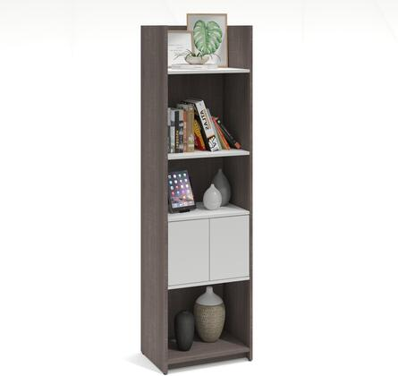 Bestar Furniture Krom 167001147 Shelf Gray, Storage Tower