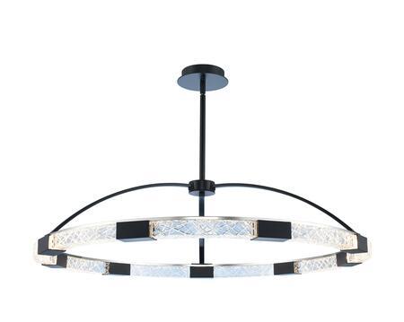 Athena 034852-051-FR001 43″ LED Pendant in Matte Black w/ Polished Nickel Finish with Firenze