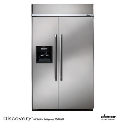 Dacor Discovery EF48DBSS Side-By-Side Refrigerator Stainless Steel, 1