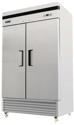 Migali Competitor C2FB35HC Commercial Reach In Freezer Stainless Steel, C-2FB-35-HC 2 Door Reach-In Freezer