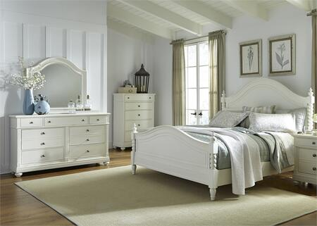 Liberty Furniture Harbor View II 631BRQPSDMC Bedroom Set White, Main Image
